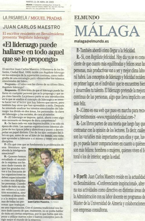 Recorte de prensa El Mundo (abril)