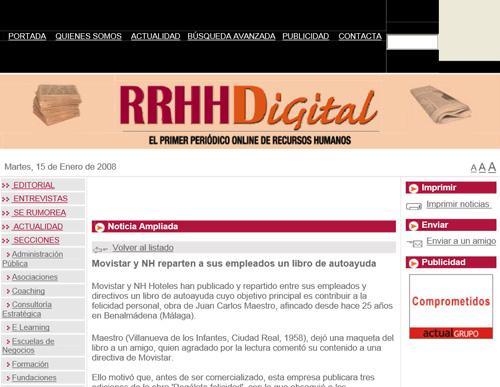 Articulo en RRHH Digital