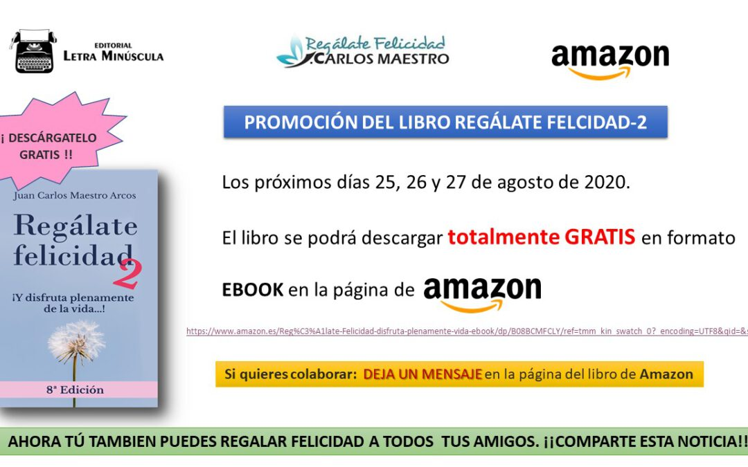Promoción Libro Regálate Felicidad GRATIS